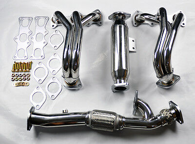 2.7L V6 Stainless Race Manifold Headers & Downpipe FITS Hyundai Tiburon 02-07
