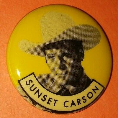 Sunset Carson Western Vintage 1950S Republic Pictures Pin Button Rare B