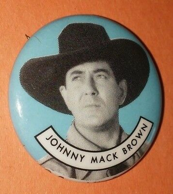 Johnny Mack Brown Western Vintage 1950S Republic Pictures Pin Button Rare A
