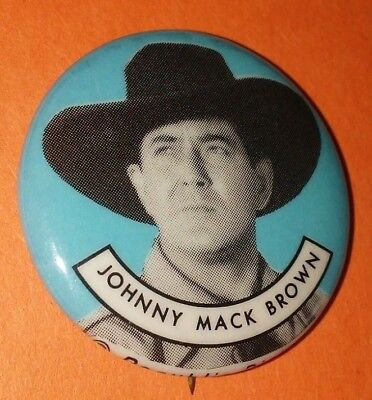 Johnny Mack Brown Western Vintage 1950S Republic Pictures Pin Button Rare C