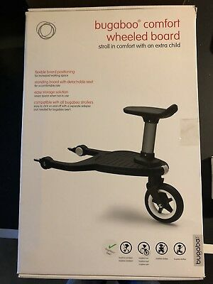 Bugaboo 2017 Comfort Wheeled Board Stroller Ride On Board with Detachable Seat