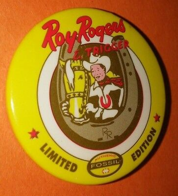Roy Rogers Western Vintage 1980's Badge Pin Button Rare Limited Edition Qty!