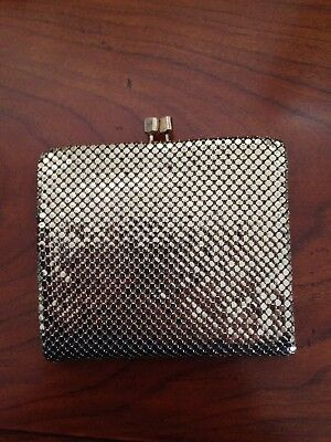 Glomesh wallet - new vintage condition. Gold.