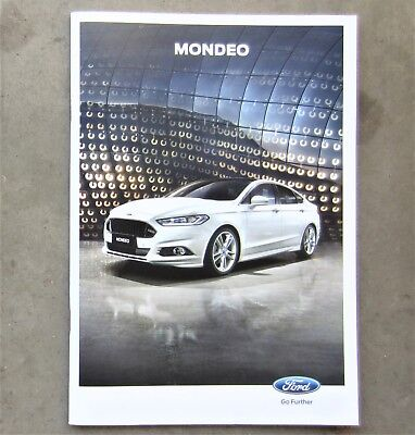 FORD MONDEO 2017 2.0 Car Auto Sales Owners Brochure Booklet Turbo Diesel FUSION