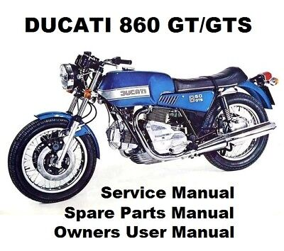 DUCATI 860 GT GTS Owners Workshop Service Repair Parts Manual PDF on CD-R DESMO