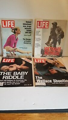 Lot of 4 Vintage LIFE Magazines (May, 1972)