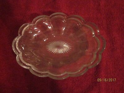 """Pair of Nesting Heisey Cut Crystal Candy Dishes, with star bottoms, distinct """"H"""""""