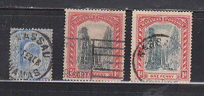 Bahamas - Gibbons #75A, 75B & 84 used stamps