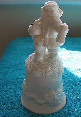 """White Santa BELL  ~Excellent Condition~  """"GREAT COLLECTABLE"""" ~Possible Vintage~"""
