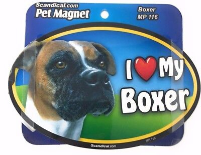 I LOVE MY BOXER Dog Gifts, Cars, Trucks. Lockers, Refrigerator