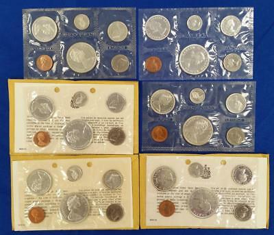 6-Canada 80% Silver Proof-Like Sets 1962/64/3-65/1-1966      L2518