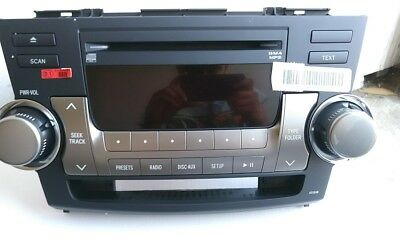 10 11 12 TOYOTA Highlander Radio Stereo Receiver MP3 CD Player A518AW OEM
