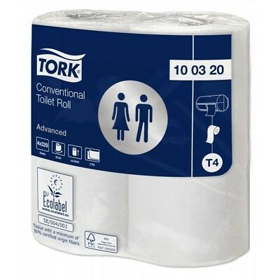 2ply White Adv Toilet Roll 320sheet 9x4 100320 Tork Genuine Top Quality Product