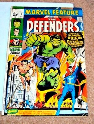 Marvel Feature #1 1971 Defenders Key Issue Bronze Age Mighty Marvel Comics