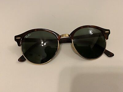 76f1f2eee9 Ray-Ban Clubround Classic Sunglasses RB4246 990 Tortoise Green G-15 Lens 51