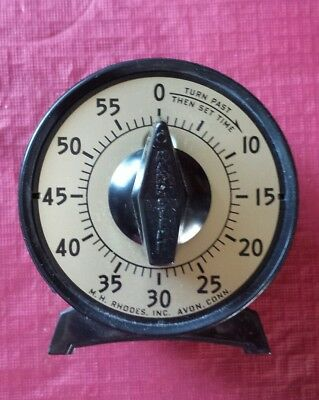 Vintage M. H. Rhodes 60 Minute Twist Timer Vintage in Box, 56401