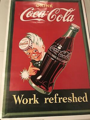 "Drink Coca-Cola ""Work Refreshed"" 24"" X 36"" Poster"
