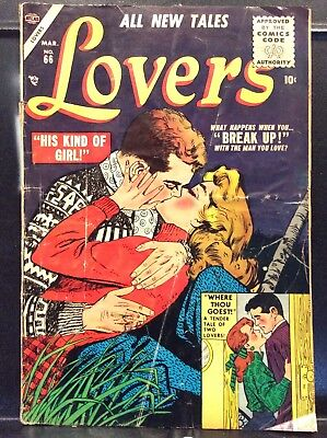 Lovers #66 Atlas Comic 1955 VG+ Emotional Romance