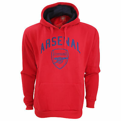 Arsenal FC Mens Official Large Football Crest Pullover Hoodie (SG2045)