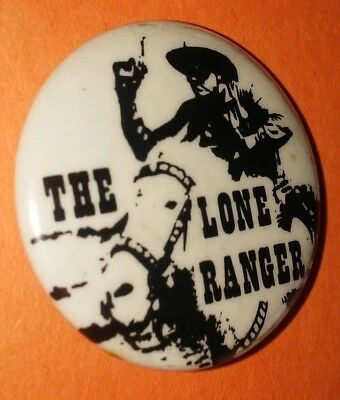 The Lone Ranger Western Button Pin Vintage Rare Original 50's 60's