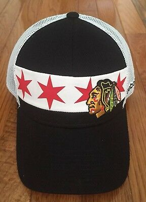 big sale bfc7b b6c68 Reebok Center Ice Chicago Blackhawks 2016 Stadium Series SnapBack NHL Hat