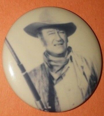 John Wayne Western Cowboy Badge Button Pin Vintage Rare Qty!!