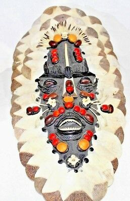Brazilian Tribal Mask - Piranha Teeth, Bones, and Fish scales
