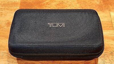 New! TUMI Delta Airlines First Business Class Navy Blue Hard Shell Amenity Kit