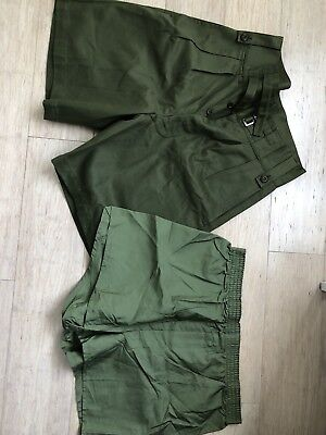 """Vintage Army Jungle Green Shorts And Boxers Set 32"""""""