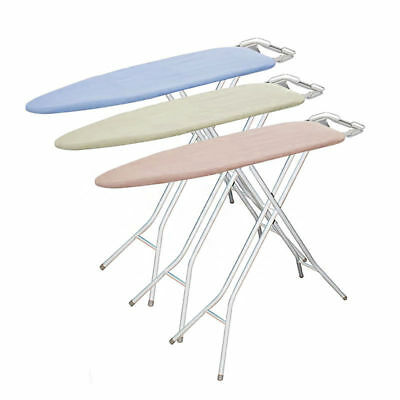 Ironing Board Adjustable Stand Iron Clothes Home Tray Padded Assorted Colours