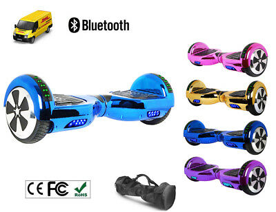 Hover board 6.5 Inch Self Balance Scooter Wheel Electric Bluetooth Chrome