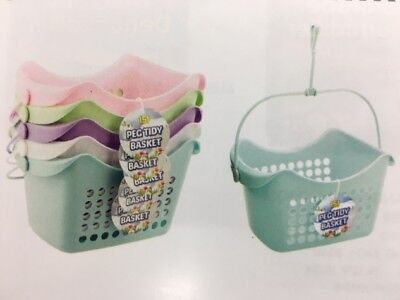 Small Pegs Laundry Socks Bag Tub Storage Tidy Basket Plastic With Hanging Hook