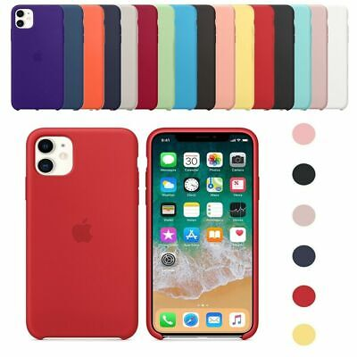 Genuine Official Cover for iPhone XS Max XR 8 7 6s Silicone Shockproof Case New