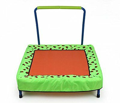 Baby Girl Folding Trampoline with Handle Indoor Outdoor Kids Exercise Bouncer