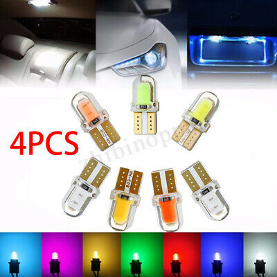 4x T10 194 168 W5W COB 8 SMD LED CANBUS Silica Dashboard Map License Light Bulbs