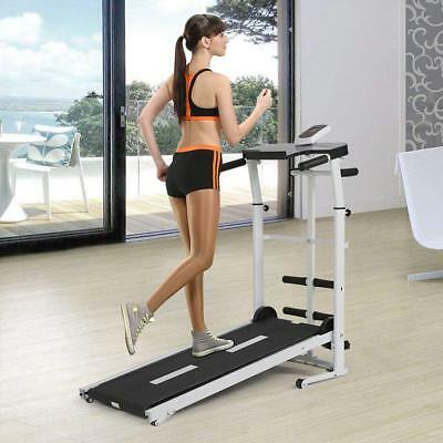 Folding Portable Manual Treadmill Home Running Walking Cardio Fitness Machine