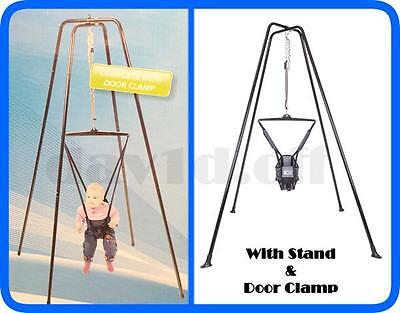 New Deluxe Jumper Jolly Jumping Joey Exerciser with STAND Door Clamp Warranty BL