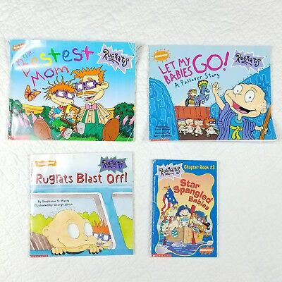 Lot Of 4 Nickelodeon Rugrats Kids Picture Books 90s Cartoon 10 00