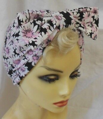 VINTAGE INSPIRED 1940's 1950's STYLE  DAISY  TURBAN HAT WW2 LINDYHOP SWING