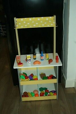 Childs NEW 2 in 1 quality Wooden Cafe/Shop - great for imaginative play RRP £30