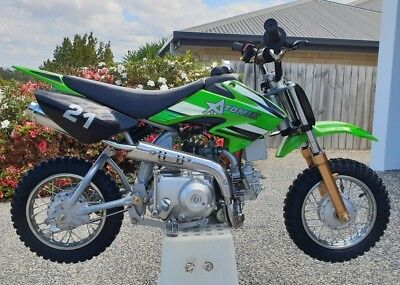 Used Atomik 50cc Moto X Motocross Motor Trial Dirt Pit Bike Green
