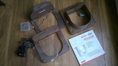 Staywell Microchip cat flap in brown