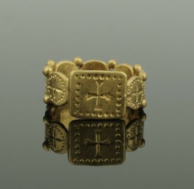 SUPERB ANCIENT MEDIEVAL GOLD  RING - CIRCA 14th/15th Century AD 101
