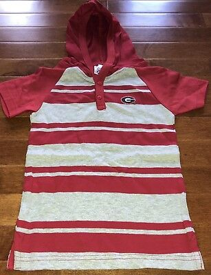 NCAA Licensed University of Georgia Bulldogs Toddler Boy Hooded Shirt Top New 4T