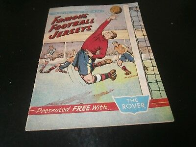 The Rover Handy Album of Famous Football Jerseys The Rover Comic 1958?