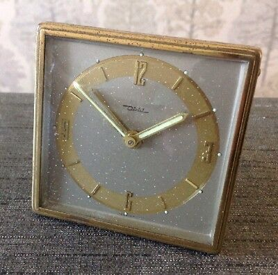 Vintage Diehl Alarm Clock Mechanical Winds And Ticks From Clockmakers Collection