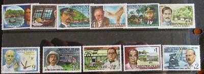 Christmas Island 1977-79 Famous Visitors 11 stamps MUH