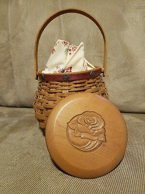 VINTAGE 2004 Pasadena Tournament of  Roses Longaberger Basket w/ Liner & Lid
