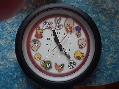 "Vintage 1999 12"" Westclox Looney Tunes Wall Clock With Talking Voices"