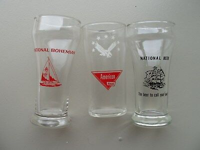 National Boh, National, and American Glasses: Baltimore 1970s
